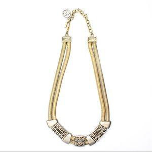 Crown Trifari Vintage Gold & Silver Tone Necklace